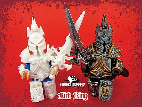 Custom lego world of warcraft lich king by breakthrough for Lego world craft