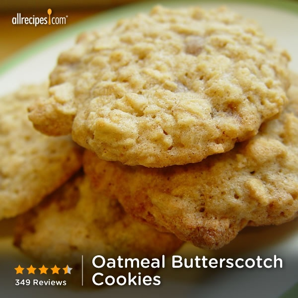 "Oatmeal Butterscotch Cookies | ""I had a really hard time not just ..."