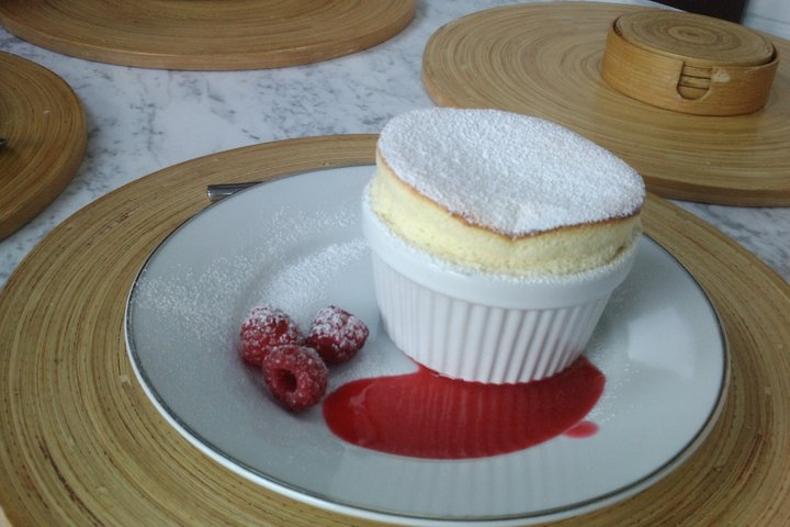 Mary Berry lemon souffle with raspberry coulis ---- by Amber Stock ...