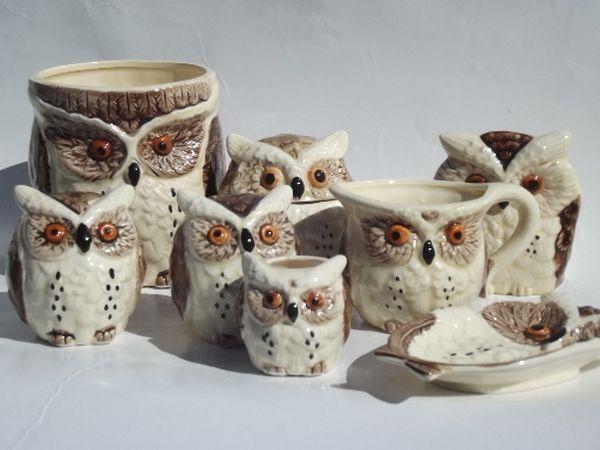 retro owl kitchen accessories corujas diversidades