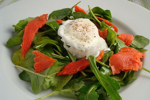 Smoked Salmon and Poached Egg Salad | Salads | Pinterest