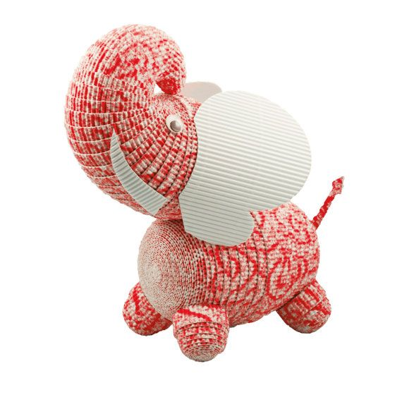 ... of 10 Minature Elephants Handmade from Paper. An Ideal additon t