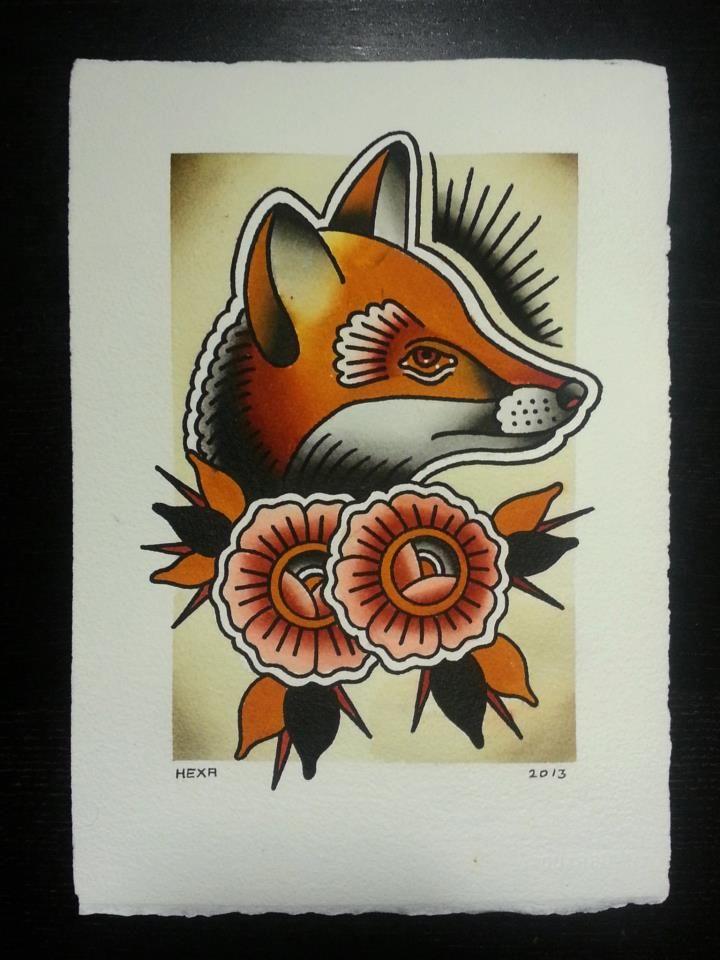 Traditional japanese fox tattoo - photo#19
