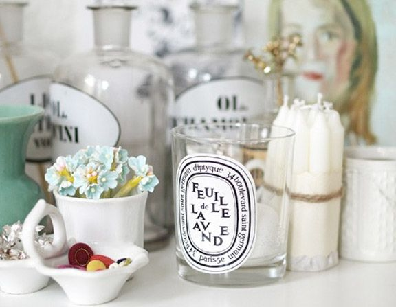 Favorite ideas that we came across for upcycling diptyque candle jars.