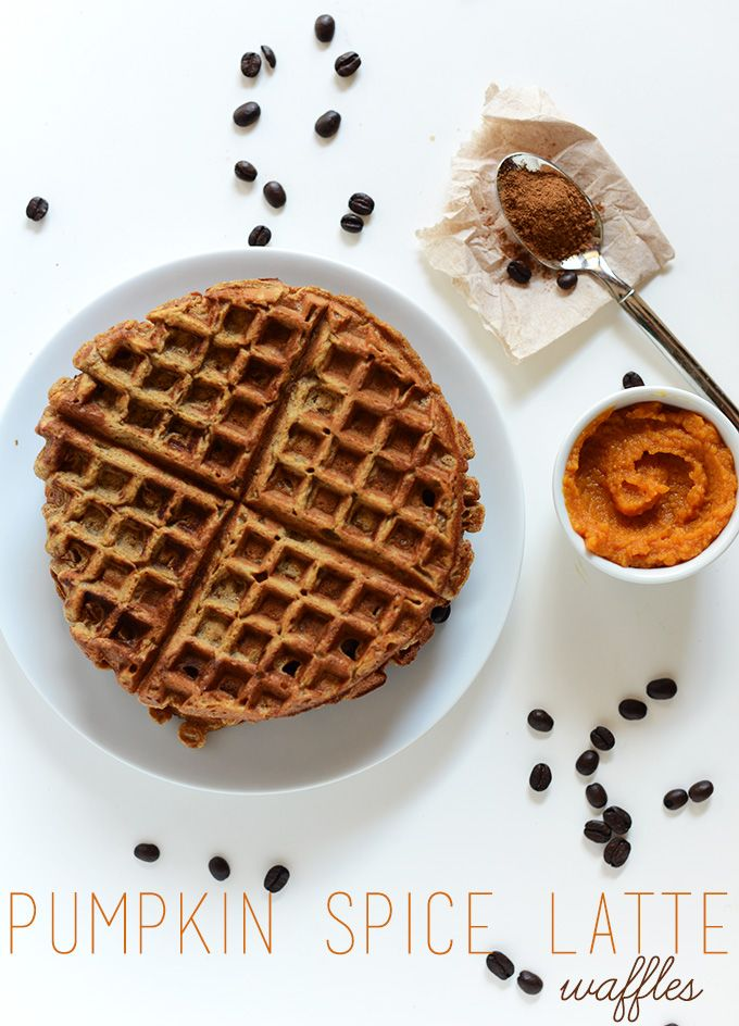 Vegan Pumpkin Spice Latte Waffles by Minimalist Baker blogger, Serves ...