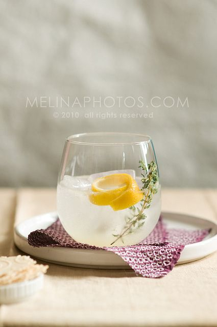 lemon-thyme cocktail | Drink Recipes | Pinterest