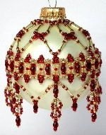 January Garnet Ornament Pattern by Deb Moffett-Hall aka Patterns to Bead