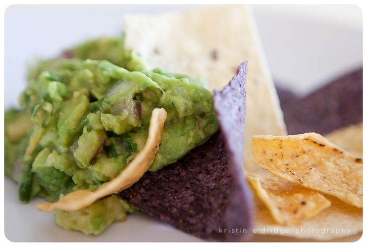Rustic guacamole with the freshest ingredients...you can't eat chips ...