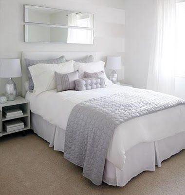 Best White Light Grey Bedding Peaceful Bedroom Ideas 400 x 300