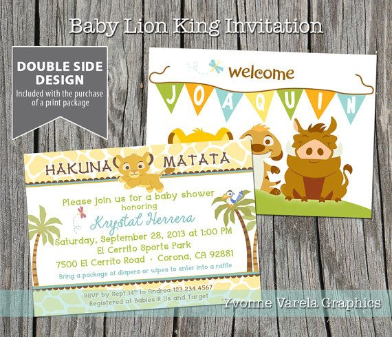 baby lion king shower invitation by yvcustominvites on etsy
