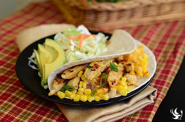 Chicken Soft Tacos with Key Lime Corn | May Menu 2014 | Pinterest