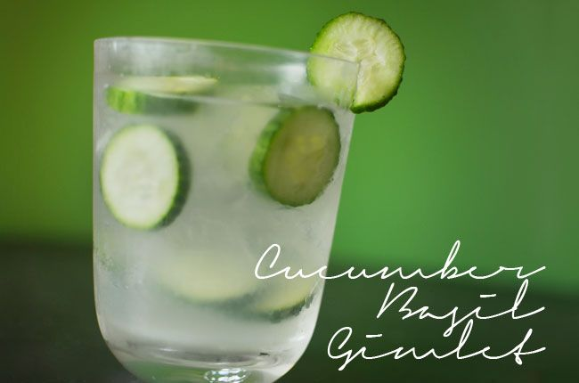 LP's Cocktail of the Month - Cucumber Basil Gimlet