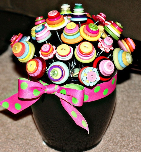 Make this Button Bouquet, Beth-W