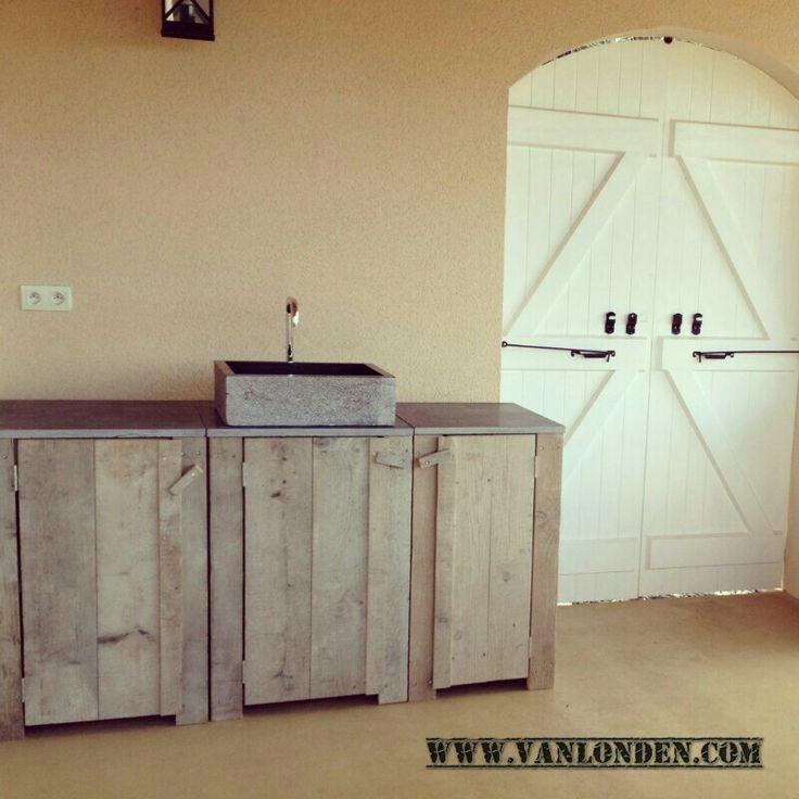 Buitenkeuken Van Steigerhout : Buitenkeuken van steigerhout Steigerhouten meubelen Pinterest