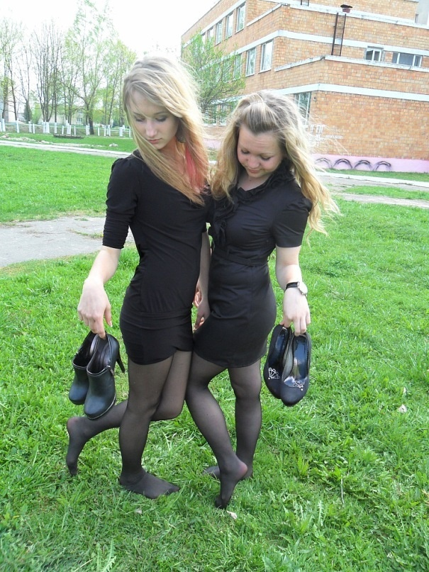 Sincerely collage girls in pantyhose