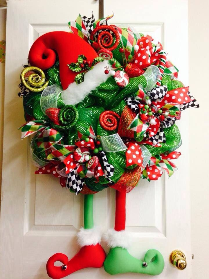 Cute elf wreath