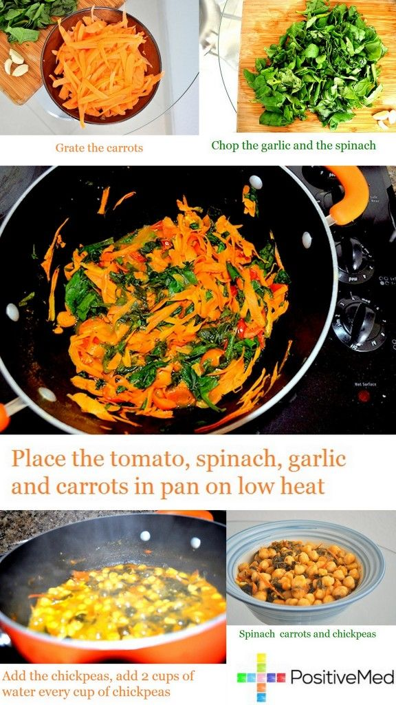 Spinach Carrots and Chickpeas recipe | Health! Foods, Tips, Workouts ...