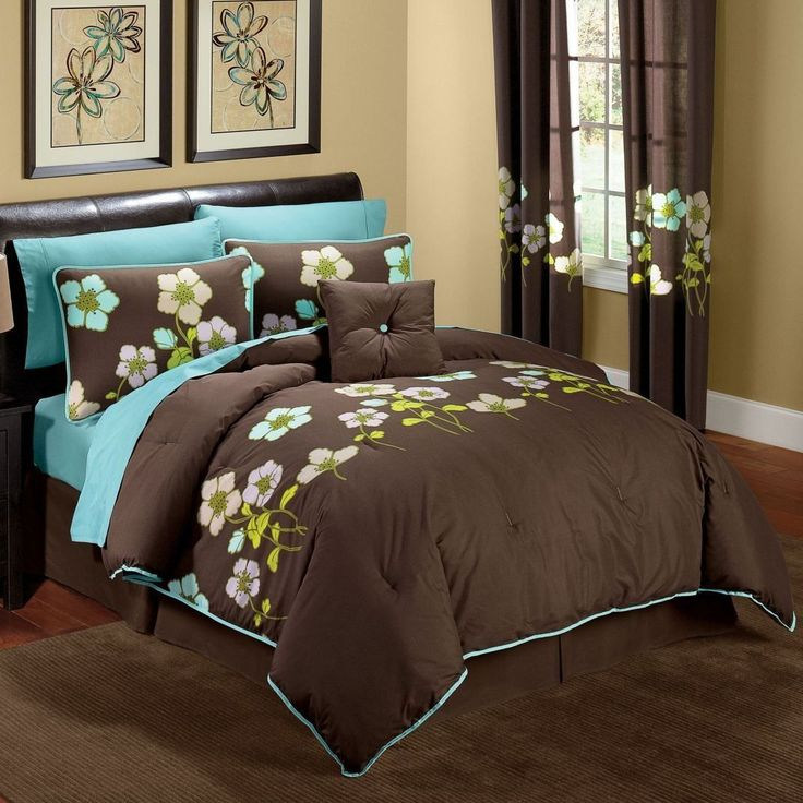 turquoise and brown bedroom ideas home decor pinterest