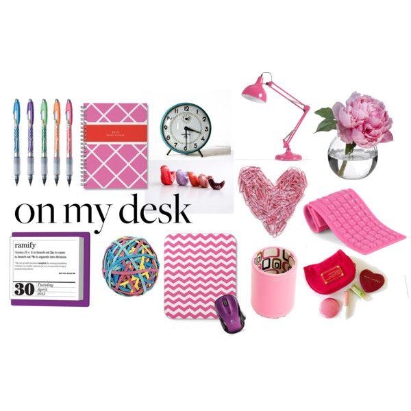 On My Desk - Feminine | Office Decor | Pinterest