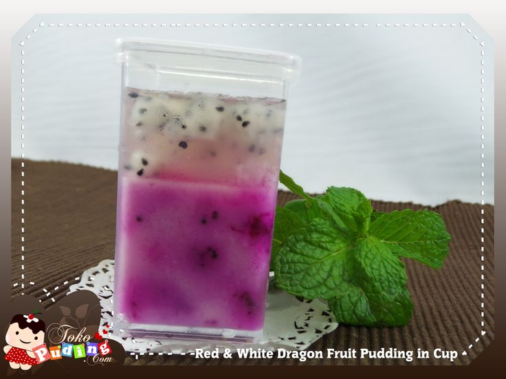 Red & White Dragon Fruit Pudding in Cup | D'licious Pudding | Pintere...