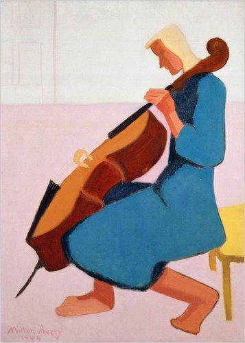 1944 Milton Avery (American artist, 1885-1965) Cello Player