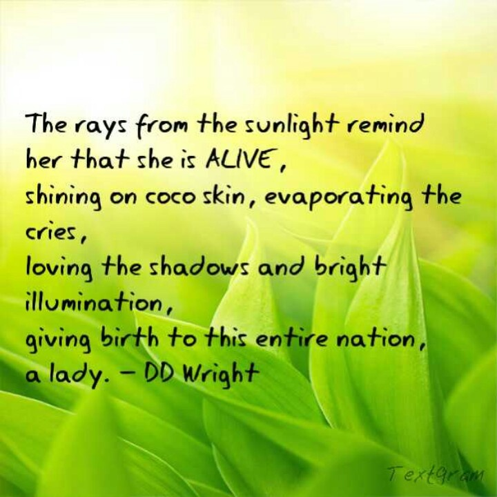 Lady in the sunshine #poem #poetry | Poems by Author DD Wright | Pint ...