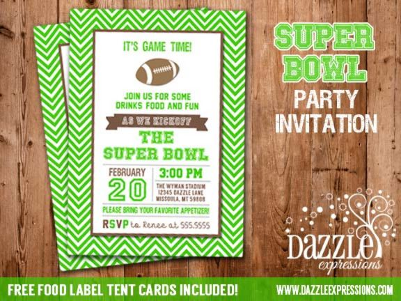 Pin by dazzle expressions on football party pinterest for Super bowl party invitation template
