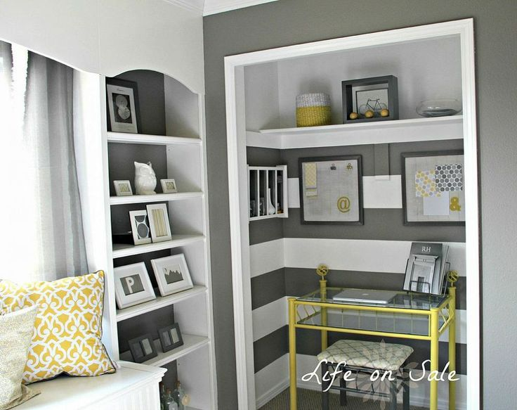 Hometalk :: Creating an Office in a Closet