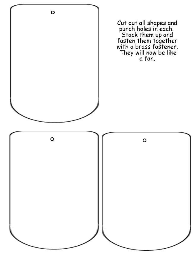 "Lapbook ""large fan"" Template | Bible: Lapbooks & FFG, Books, Foldable ..."