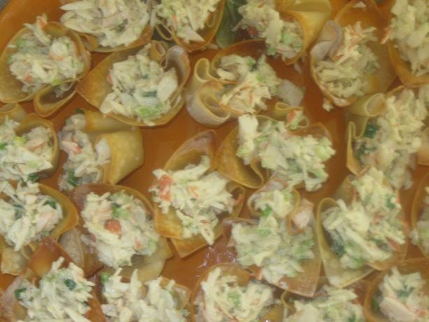 Crab Salad in Wonton Cups