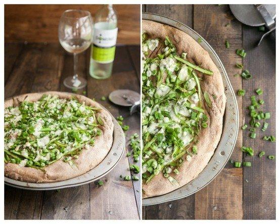 shaved asparagus and gorgonzola pizza | YUMMMMYYY | Pinterest