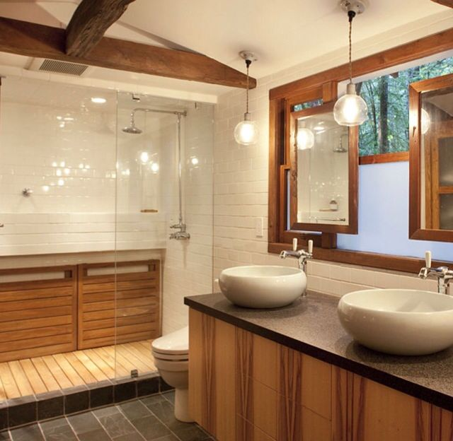Rustic Bathroom For The Home Pinterest