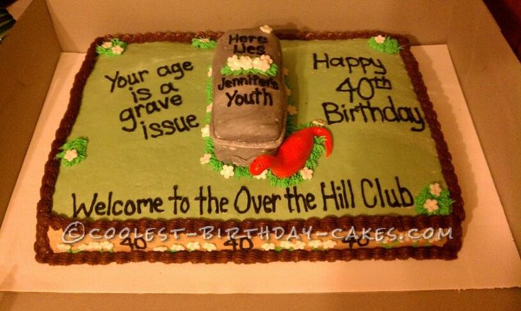 Cake Designs For Over The Hill : Coolest Over the Hill Cake