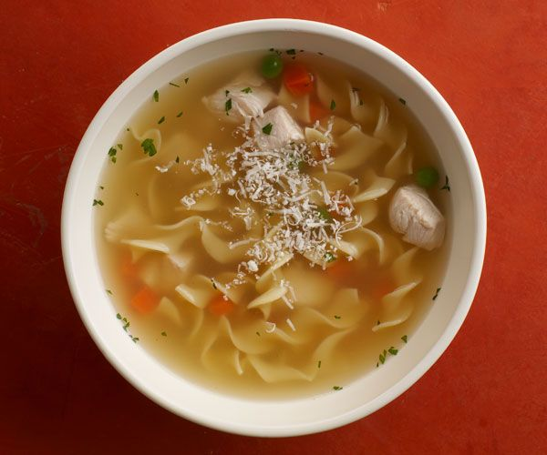 Chicken Noodle Soup with Carrots & Peas   Recipe