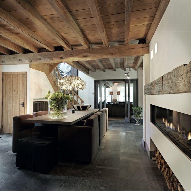 Meer dan 1000 idee n over houten plafonds op pinterest plafondtegels plafonds en houten - Interieur eigentijds houten huis ...