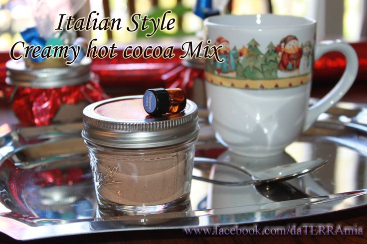 Italian style creamy hot cocoa mix with doTERRA peppermint essential ...
