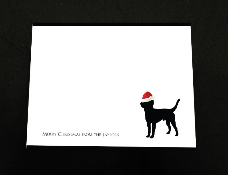 Merry Christmas Family Dog Card - Stationary - Black Lab - Christmas Card - Christmas Stationary - Family Stationary. $15.00, via Etsy.