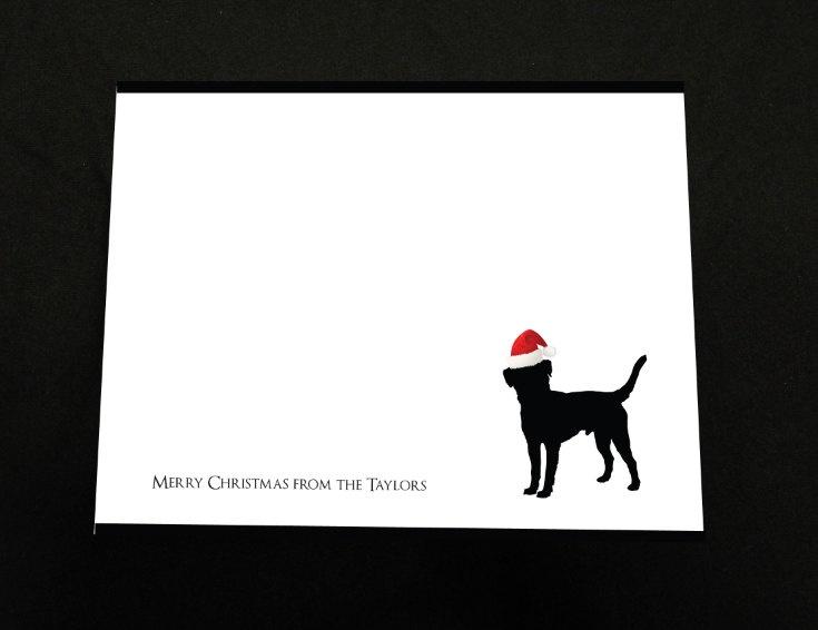 Merry Christmas Family Dog Card - Stationary - Black Lab - Christmas Card - Christmas Stationary - Family Stationary. $15.00, via Etsy.