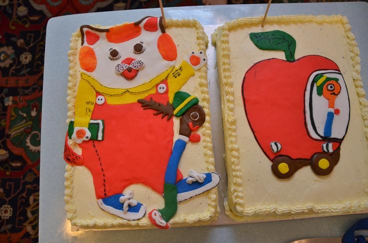 Lowly Worm Birthday Cake
