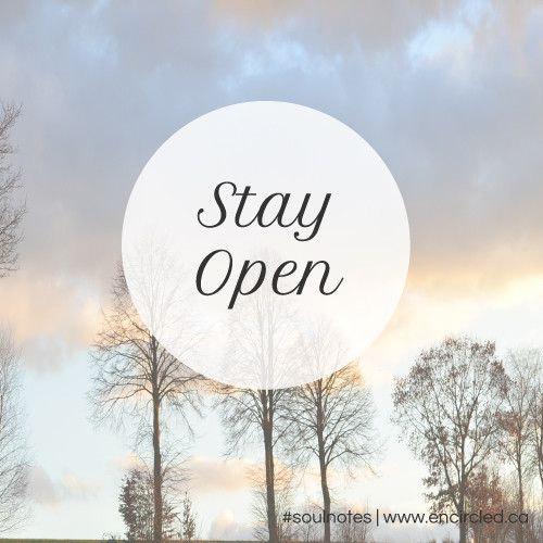 stay open #soulnotes