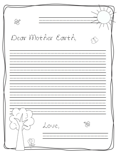 Earth Day Letter printable