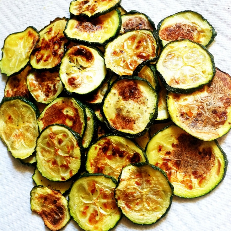 Healthy zucchini chips | Vegspo | Pinterest