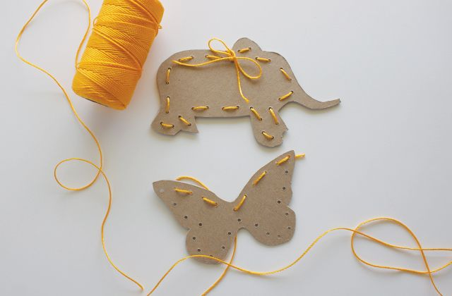 make and play with sewing cards.
