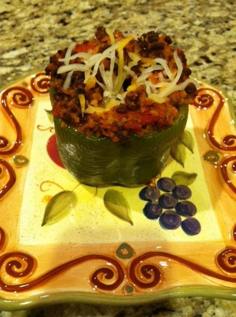 Medifast Lean and Green! This was delicious! Its a stuffed bell pepper ...