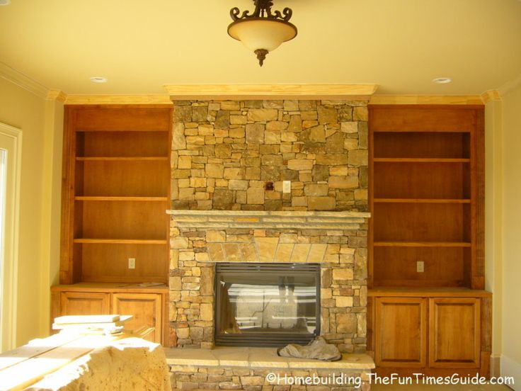 Excellent Built In Bookcases Around A Fireplace  Mom  Pinterest