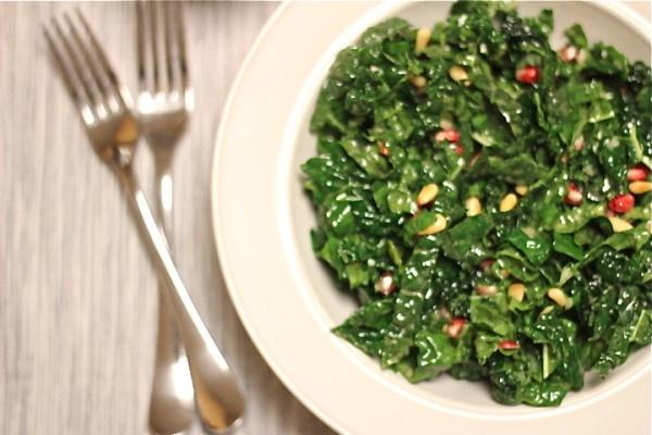 Kale Salad with Mustard Vinaigrette | Low Carb | Pinterest