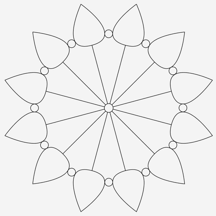 Zentangle template #32 | Zentangle ideas & templates | Pinterest