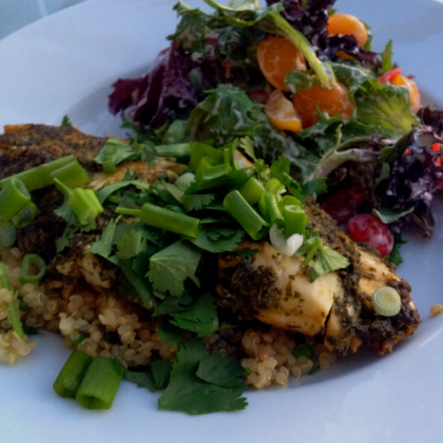 Ginger and cilantro baked tilapia. My photo isn't as gorg. as the one ...