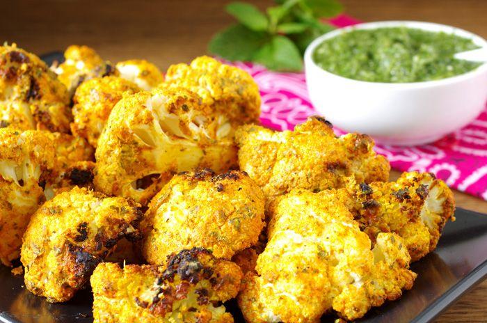 Tandoori Cauliflower with Mint Chutney   But can I eat it?   Pinterest