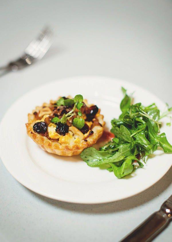 sweet caramlised onion and feta tart via a table for two